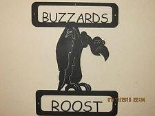 CUSTOM BUZZARDS ROOST WALL ART SIGN TEXTURED BLACK POWDER COAT FINISH