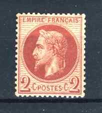 "FRANCE STAMP TIMBRE N° 26 a "" NAPOLEON III 2c ROUGE BRUN FONCE "" NEUF x TB P900"