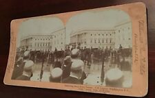 Real Photo Removing William McKinley Body from Hearse State Funeral Stereoview
