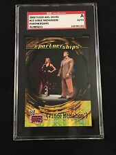 VINCE McMAHON 2002 FLEER WWE WWF SIGNED AUTOGRAPHED CARD #52 SGC AUTHENTIC