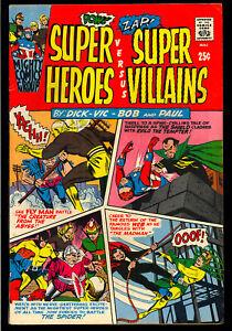 Super Heroes Versus Super Villains #1 Nice Silver Age Arche Comic 1966 FN-