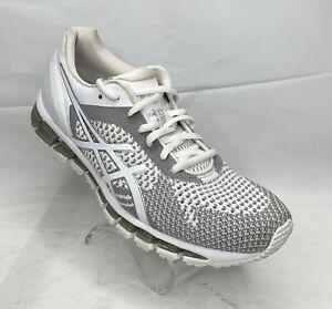 Asics Gel Quantum 360 Knit White Snow Silver Shoes T778N Women's Size 8.5
