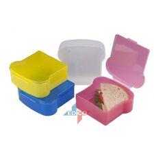 Retro Sandwich Box Lunch Plastic Sandwich Shaped - Kids & Adult Sandwich Box