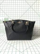 Coach F28993 Pebbled Leather Small Kelsey Satchel Crossbody Bag in Black
