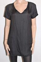TEMT Designer Black Short Sleeve Shift Dress Size 12 BNWT #TD03
