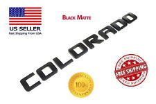 Black Glossy COLORADO FIT Chevy TAILGATE EMBLEM Chevrolet NAMEPLATE BADGE Door