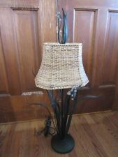 Unique Metal Leaf Reeds & Beads Table Lamp Tropical Palecek
