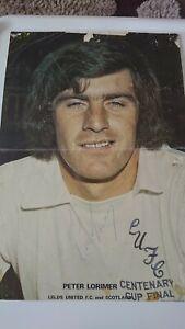 Peter Lorimer Leeds United Coffer Poster Signed / Autographed