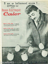 PUBLICITE ADVERTISING 125  1955  Calor rasoir éléctrique