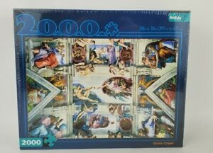 "Buffalo Games Sistine Chapel 2000 Piece Puzzle 38.5"" X 26.5"" New Sealed"