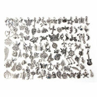Wholesale Bulk Lots Tibetan Silver Mix Charms Pendants Jewelry DIY jc