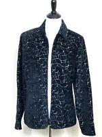Christopher Banks Womens Jacket Size Large Zip Up Black