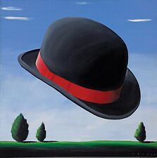 Robert Deyber - At the Drop of a Hat (Bowler), hand-signed lithograph, Framed