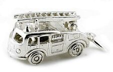 STERLING SILVER MOVABLE FIRE ENGINE WITH LADDER CHARM