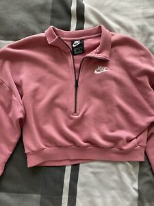 Nike Pink Half Zip Sweatshirt XS