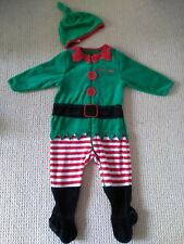 Baby Christmas Elf Outfit/Sleepsuit With Hat Mothercare 6-9 Months