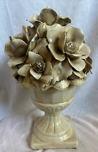 Vintage Candy Dish Flower Lidded Jar Dish ITALY Rare Capodimonte Style
