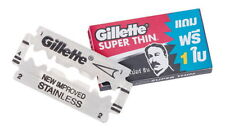10 Pack Razor blades Gillette Super Thin New Improved Stainless easy use 60 pcs