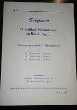 Programm 1982 Hallentunier Chemie Leipzig 1.FC Lok Leipzig Bezirk DDR Fussball