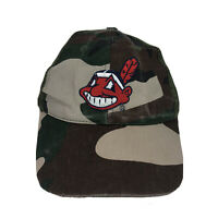 Vintage Trucker Cleveland Indians MLB Chief Wahoo Hat Cap Mesh Adjustable