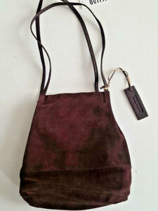 Urban Outfitters Suede Leather b Bucket Bag Wine RRP 32£ NEW FREE UK
