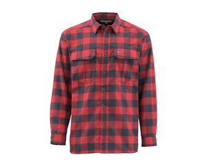 Simms Coldweather Shirt Red Buffalo Plaid CLOSEOUT
