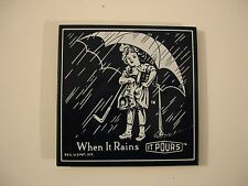 "Morton Salt ""When It Rains It Pours"" Porcelain Ande Rooney Magnet"
