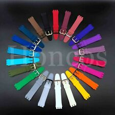 17 19 MM Colorful Silicone Rubber Watch Band Strap Fits Swatch X Three Notches