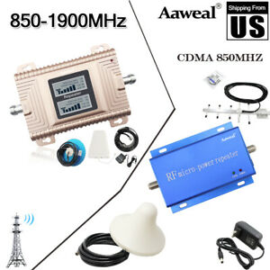 CDMA 850/1900MHZ Cell Phone Signal Booster Amplifier Repeater Antenna Home call
