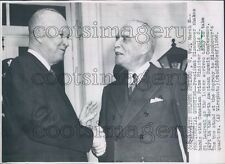 1956 President Dwight Eisenhower Canada PM Louis St Laurent Press Photo