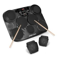 PylePro Portable Drums, Tabletop Drum Set, 7 Pad Digital Drum Kit, Touch Sens.