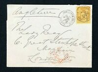 Postal History France, Cover from Cannes France to Mayfair London Posted 1884
