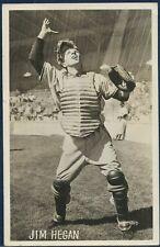 1948 CLEVELAND INDIANS Team Issue Postcard JIM HEGAN