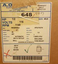 AO SMITH / CENTURY 648 MOTOR 1/2 HP 115v 1140 RPM S88-553