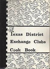 *COPPERAS COVE *DALLAS *HOUSTON TX 1983 TEXAS EXCHANGE CLUBS COOK BOOK *VINTAGE