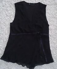LADIES LOVELY SLEEVELESS DRESSY TOP. BHS. SIZE 14. BLACK.  see pic.