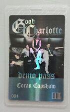 Good Charlotte Laminated Backstage Pass Hologram