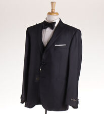 NWT $1975 CORNELIANI Dark Gray Wool-Silk Peak Lapel Tuxedo 46 R (Eu 56) Suit