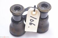 LEMAIRE PARIS ANTIQUE ALL BRASS SMALL SIZE BINOCULARS NICE CONDITION