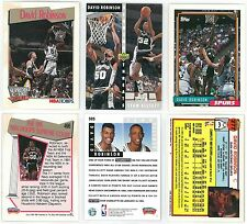 David Robinson 92-93 Topps #277 91-92 Hoops 496 92-93 UD #505 Basketball Cards