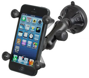 RAM Suction Cup Mount & X-Grip Holder f/ Cell Phone Smartphone Fits w/ OtterBox