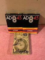 TDK 8TR-45AD High Fidelity Recording Tape Cartridge & Lafayette criterion XHE
