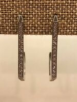 Authentic Origami Owl Silver Geo Hoop Earrings w/ Swarovski Crystals - NEW
