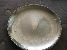 "VINTAGE WM ROGERS SILVERPLATE 867 SERVING TRAY ROUND PLATTER, 17 1/2"" DIAMETER"
