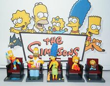 Simpsons Movie Figure Set of 5 all in neat Movie Chairs with Homer, Bart Etc