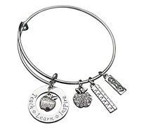 Teacher Bracelet, Teacher Gift, Teacher Jewelry, Teacher Appreciation, US SELLER