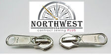 "YKK  Sliders use for # 10 Chain Zipper 25 Slides ~color~ ""Nickel"" NW9149"