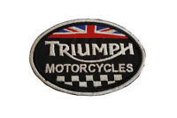 Triumph Racing Squares Oval - Embroidered Motorcycle/Biker Patch