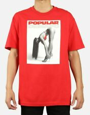NWT Popular Demand Bend ss t shirt red size large