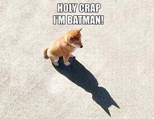 HOLY CRAP! I'M BATMAN - FUNNY DOG  - QUALITY HEAVYWEIGHT  MOUSE MAT / PAD #1